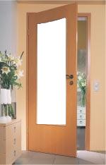 Zimmertür holz glas  Zimmertuer ESG Glas Modell Satiniert Verglasung | Lichtausschnitt