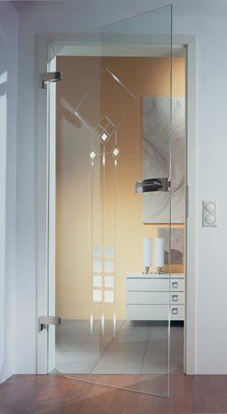 Wohnzimmer Tür, wohnzimmertür aus esg glas mit rillenschliff metis   ganzglastür, Design ideen