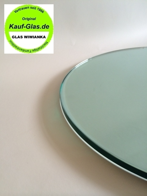 Glasstabletop Floatglass 6mm Circle 300 to 390mm