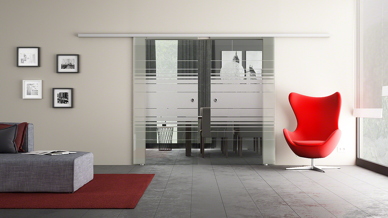 2 fl gelige schiebet ren aus glas glasversand glast ren. Black Bedroom Furniture Sets. Home Design Ideas