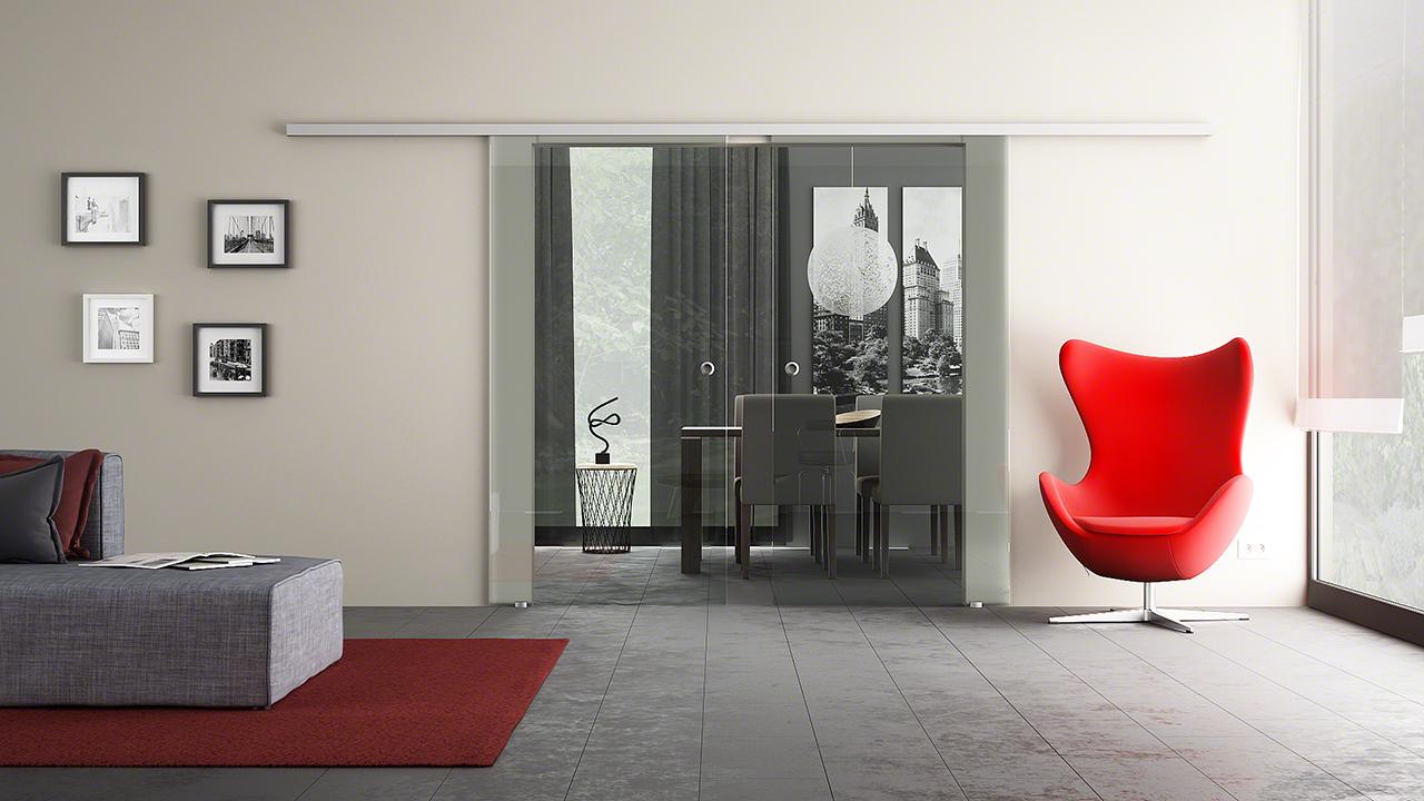 2-flügelige Schiebetüren - Kauf-Glas.de -Glasversand-Glastüren-